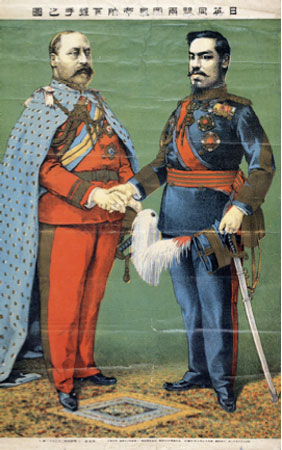 Emperors of the two countries of the Anglo-Japanese Alliance, 1905.