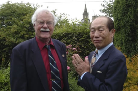 Lomax and Takashi in later years.